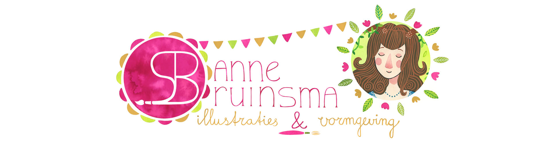 Sanne Bruinsma Illustraties & Vormgeving illustratie banner website