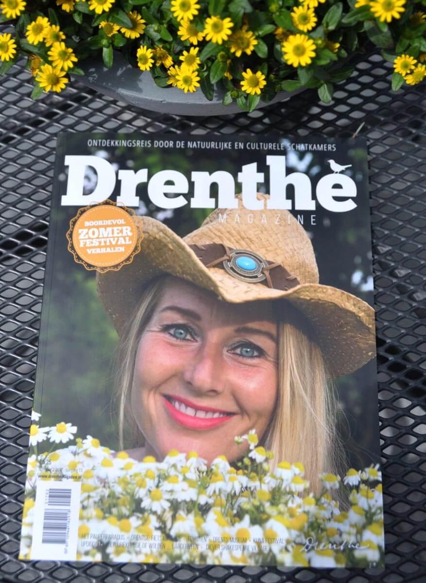 Sanne Bruinsma Illustraties & Vormgeving illustratie drenthe magazine editie 2 2017 fietsen in Drenthe zoekplaat tijdschrift provincie Drents cultureel natuur