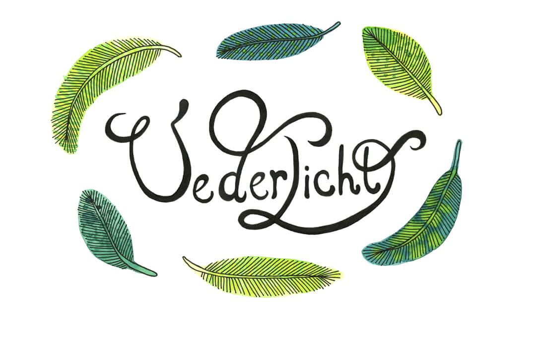 Sanne Bruinsma Illustraties & Vormgeving typografie handlettering ecoline waterverf vederlicht veren Elle Aime teken challenge