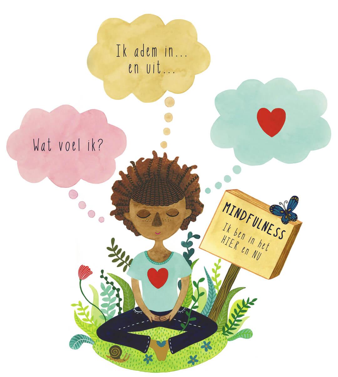 Mindfulness in de klas boek Irma Smegen lesmethode kinderen mediteren meditatie yoga rust