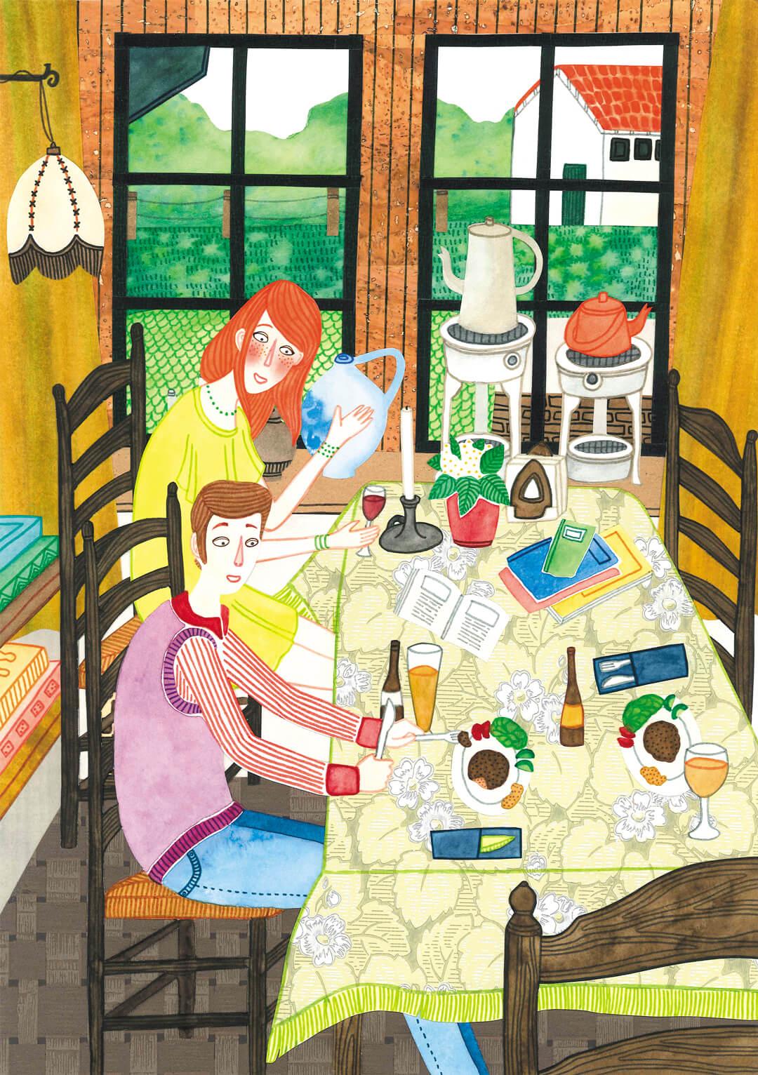Sanne Bruinsma Illustraties & Vormgeving cultureel cafe De Amer Amen muziek blues country gehaktbal bier bruincafe