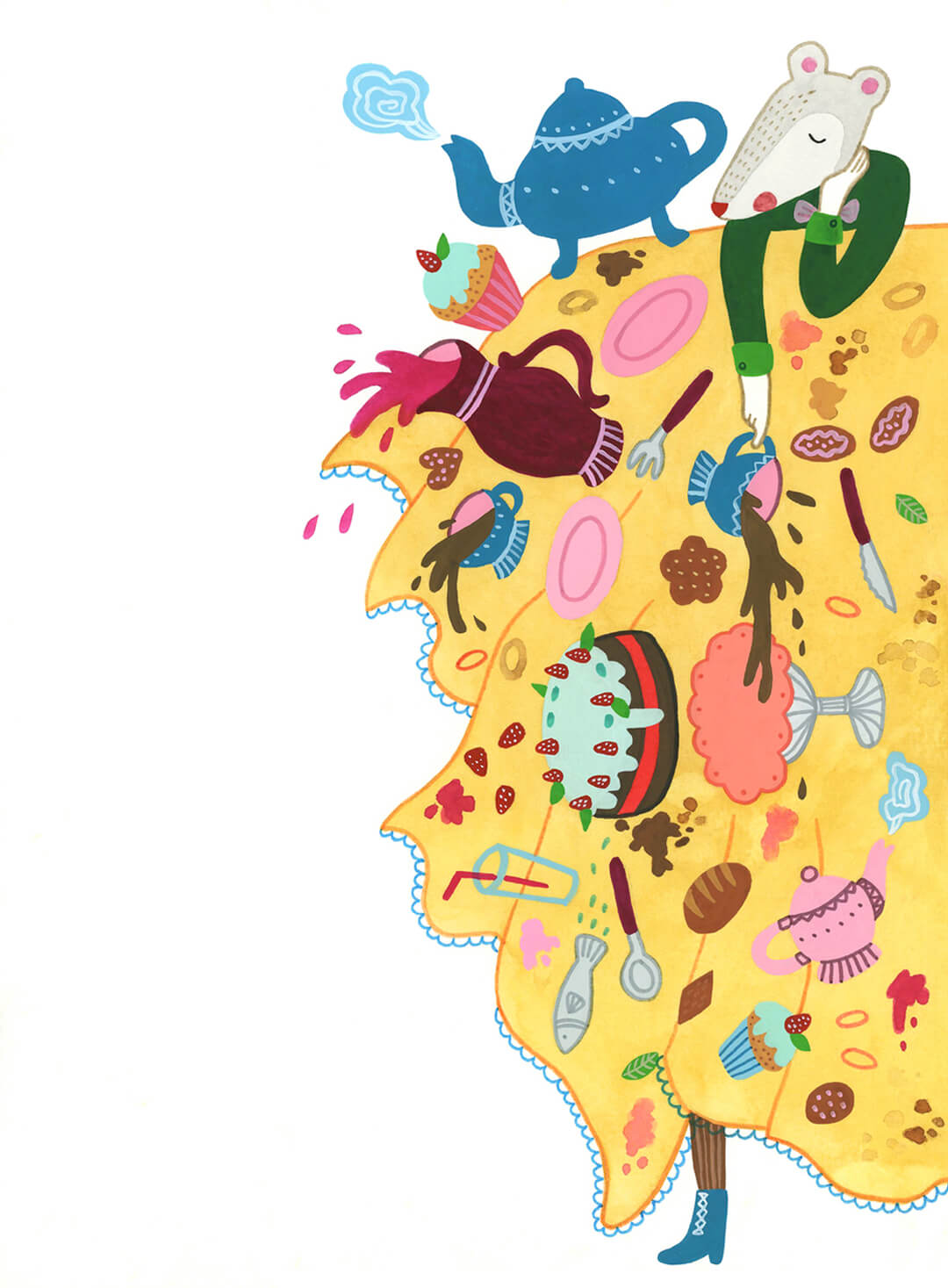 Sanne Bruinsma Illustraties & Vormgeving Boekie Boekie stArt Award 2015 Alice in Wonderland wedstrijd inzending