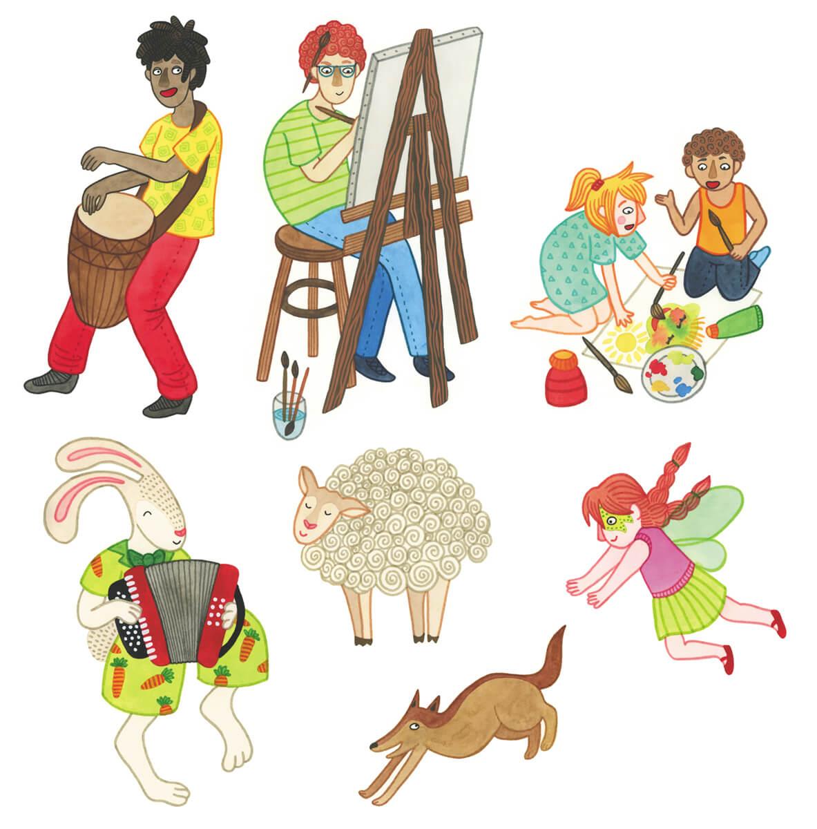 Sanne Bruinsma Illustraties & Vormgeving Drentse Uitmaand campagne K&C Assen 2015 illustraties cultuur evenement kunst