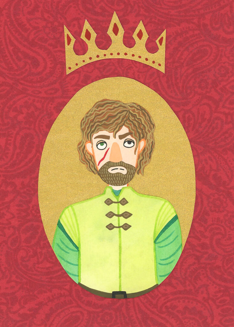 Sanne Bruinsma Illustraties & Vormgeving illustratie Game of Thrones Tyrion Lannister portret collage serie HBO