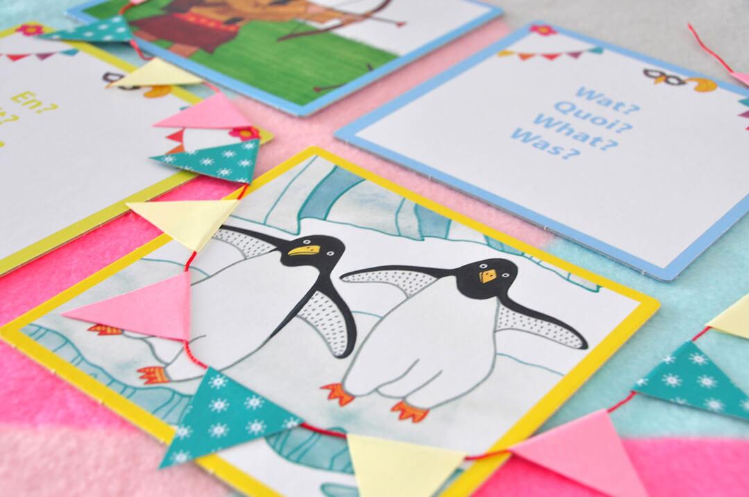 Fantaseer en acteer spel kaart pinguïn Speel je Wijs Irma Smegen Sanne Bruinsma woordenschat Rolf groep