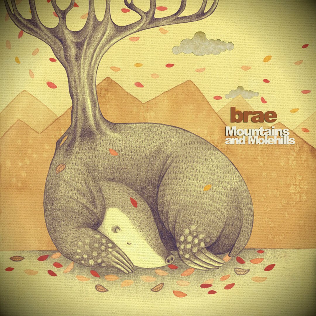 Sanne Bruinsma Illustraties & Vormgeving Brae music band CD album illustration hoes Brandon Husken cover Michigan Mountains and Molehills
