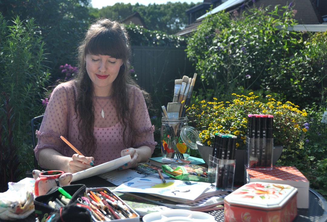 Sanne Bruinsma Illustraties & Vormgeving Illustrator Assen Drenthe foto portret schilderen tekenen introductie werkzaam werken illustreren