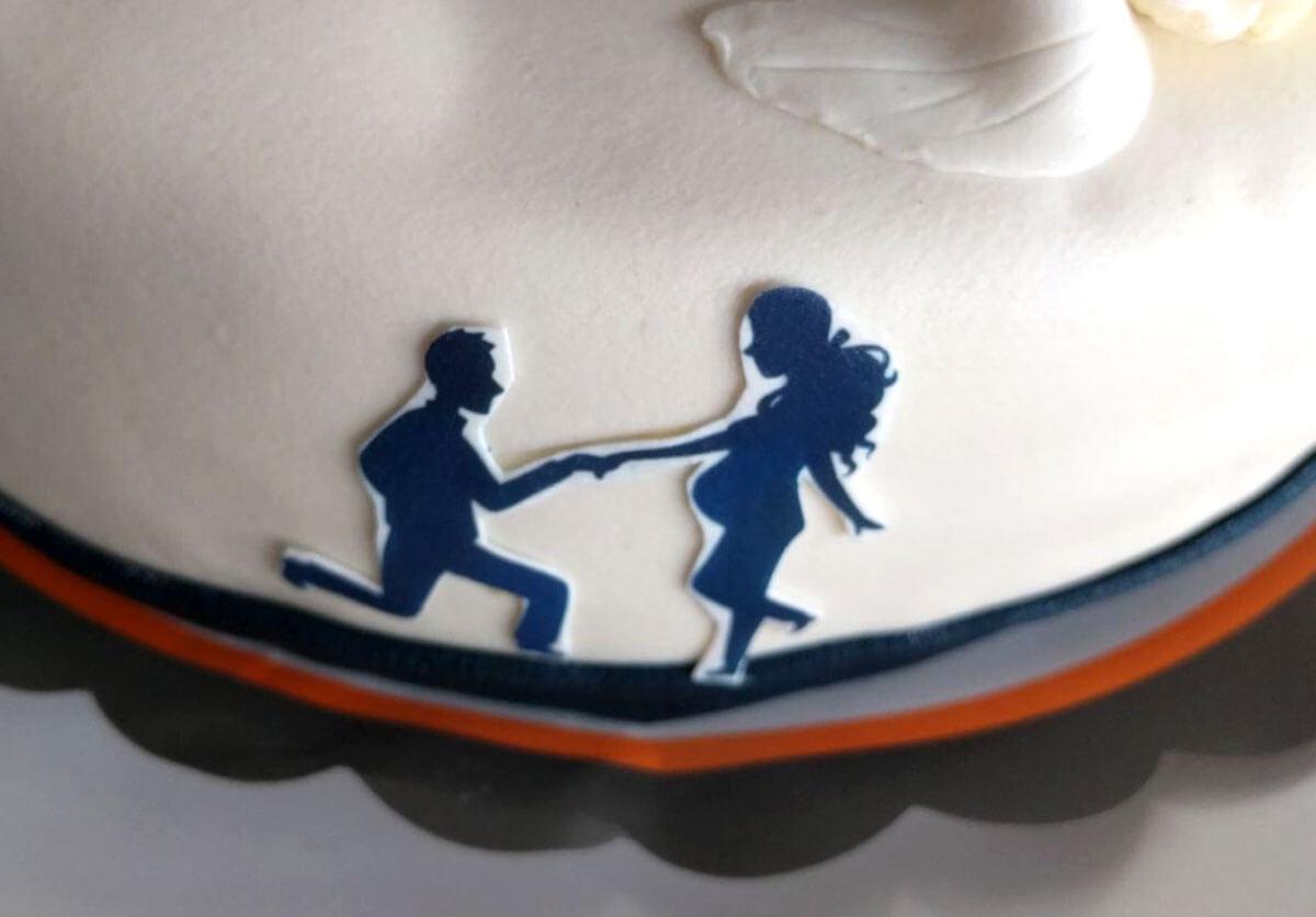Sanne Bruinsma illustraties & vormgeving tekening ontwerp bruidstaart taart decoratie versiering marsepein uitgeprint illustratie aanzoek